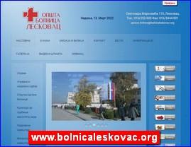 www.bolnicaleskovac.org