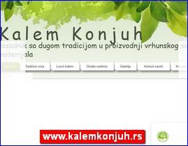 Rasadnik Kalem Konjuh, www.kalemkonjuh.rs
