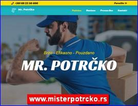 Mister Potrčko - ekspres dostava paketa, hrane, lekova, namirnica, cveća, www.misterpotrcko.rs
